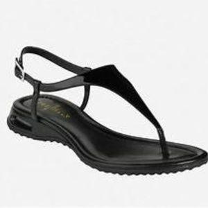 Cole Haan Sandals Size 8 Black Patent